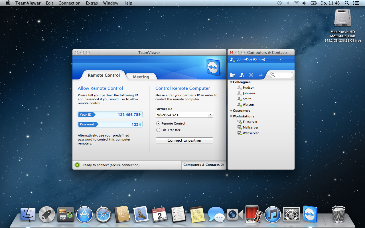 How to use TeamViewer between Mac and Windows PC