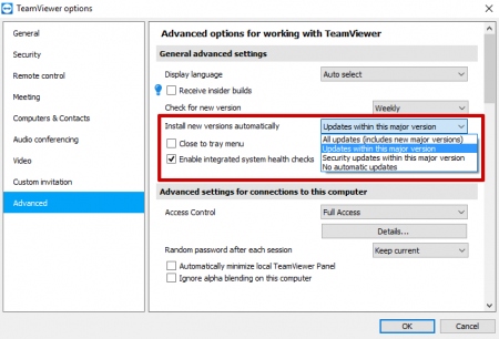 How to update TeamViewer on Mac OS